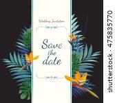 wedding invitation card. save... | Shutterstock .eps vector #475835770