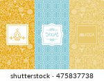 vector labels and seamless... | Shutterstock .eps vector #475837738