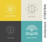 vector abstract logo design... | Shutterstock .eps vector #475837846