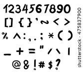 the vector of digital number... | Shutterstock .eps vector #475837900