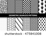 geometric patterns   vector... | Shutterstock .eps vector #475841008