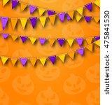 illustration halloween party... | Shutterstock . vector #475841530
