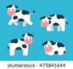 cute cartoon isolated cow...