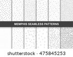 collection of swatches memphis... | Shutterstock .eps vector #475845253
