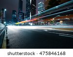 the light trails on the modern... | Shutterstock . vector #475846168