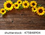 autumn background with... | Shutterstock . vector #475848904