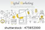 hand drawn vector illustration... | Shutterstock .eps vector #475852000