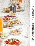 long served restaurant table... | Shutterstock . vector #47585248