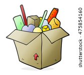 freehand drawn cartoon box of... | Shutterstock . vector #475854160