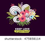 vector illustration of floral... | Shutterstock .eps vector #475858114