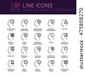simple icons set of brain and... | Shutterstock .eps vector #475858270