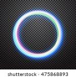 round light trail vector... | Shutterstock .eps vector #475868893
