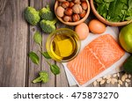 selection of healthy products.... | Shutterstock . vector #475873270