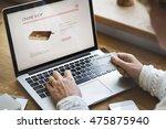 online shopping purchase... | Shutterstock . vector #475875940