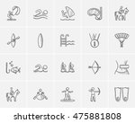 sport sketch icon set for web ... | Shutterstock .eps vector #475881808
