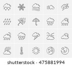weather sketch icon set for web ... | Shutterstock .eps vector #475881994