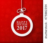 2017 happy new year and merry... | Shutterstock .eps vector #475882354