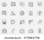 media sketch icon set for web ... | Shutterstock .eps vector #475883758