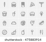 junk food sketch icon set for... | Shutterstock .eps vector #475883914