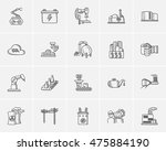 industry sketch icon set for... | Shutterstock .eps vector #475884190