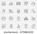 kids sketch icon set for web ... | Shutterstock .eps vector #475884220