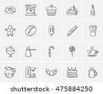 junk food sketch icon set for... | Shutterstock .eps vector #475884250