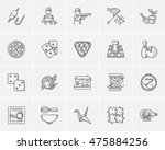 hobby sketch icon set for web ... | Shutterstock .eps vector #475884256