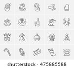 christmas sketch icon set for... | Shutterstock .eps vector #475885588