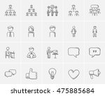 business sketch icon set for... | Shutterstock .eps vector #475885684