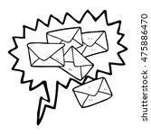 freehand drawn speech bubble... | Shutterstock . vector #475886470