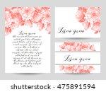 romantic invitation. wedding ... | Shutterstock .eps vector #475891594