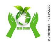 save energy for earth | Shutterstock .eps vector #475892230