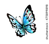butterfly watercolor  isolated... | Shutterstock . vector #475899898