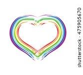 colorful heart love | Shutterstock .eps vector #475905670