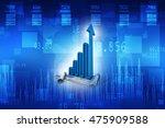 3d rendering business graph | Shutterstock . vector #475909588