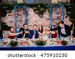 just married couple clang... | Shutterstock . vector #475910230