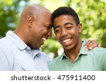african american father and son   Shutterstock . vector #475911400