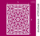 die cut ornamental panel with... | Shutterstock .eps vector #475912168