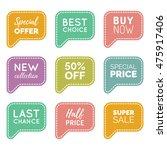 vector set of speech bubbles... | Shutterstock .eps vector #475917406