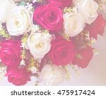 bouquet of roses with soft... | Shutterstock . vector #475917424