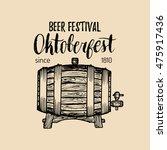 oktoberfest logo. beer festival ...   Shutterstock .eps vector #475917436