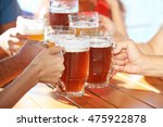 group of friends drinking beer... | Shutterstock . vector #475922878