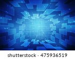 digital abstract background 2d... | Shutterstock . vector #475936519