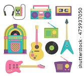 collection of vintage retro... | Shutterstock .eps vector #475937050