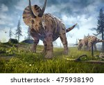 3d Rendering Of Triceratops...