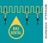 bike rental. flat vector... | Shutterstock .eps vector #475943188