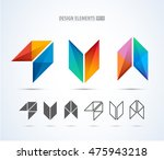 v and arrow company vector logo ... | Shutterstock .eps vector #475943218