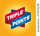 triple points arrow tag sign.   Shutterstock .eps vector #475944238