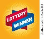 lottery winner arrow tag sign. | Shutterstock .eps vector #475949404