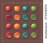 vector buttons assets  for game ...
